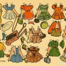 Coleccionismo Recortables: RECORTABLE MUÑECAS MINI. 'IVONE'. TAMAÑO 11X16 CM. DIFICIL.. Lote 112268887