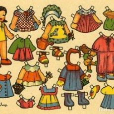 Coleccionismo Recortables: RECORTABLE MUÑECAS MINI. ANÓNIMO. DIBUJADO POR FLORES. TAMAÑO 11X16 CM. DIFICIL.. Lote 112269407