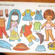 Coleccionismo Recortables: MUÑECAS RECORTABLES BOGA- SERIE MARY CARMEN Nº1 DEL 501 -510 LOTE Nº 10. Lote 112806339
