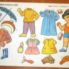 Coleccionismo Recortables: MUÑECAS RECORTABLES BOGA- SERIE MARY CARMEN Nº2 511 – 520 RECORTABLES LOTE Nº 16. Lote 112840531