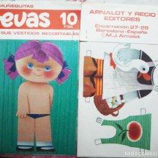 Coleccionismo Recortables: MUÑECA RECORTABLE EVAS, MUÑECA Y DOS VESTIDOS. 9 X18 CM. DE. ARNALOT. - VELL I BELL. Lote 113184535