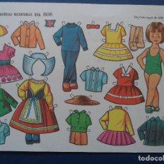 Coleccionismo Recortables: MUÑECAS RECORTABLES EVA 806. Lote 114291183