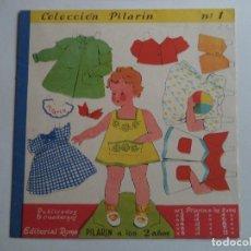 Coleccionismo Recortables: COLECCION PILARIN.Nº 1 PILARIN A LOS 2 AÑOS.ROMA. Lote 114442367