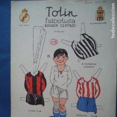 Coleccionismo Recortables: LA TIJERA SERIE 10 TOLIN FUTBOLISTA REGION CENTRO.Nº101. Lote 114456699