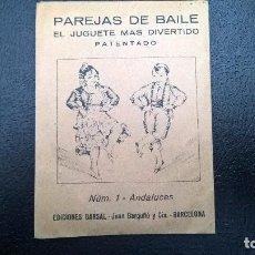 Coleccionismo Recortables: PAREJAS DE BAILE -ANDALUCES EDICIONES BARSAL-BARCELONA. Lote 114703115