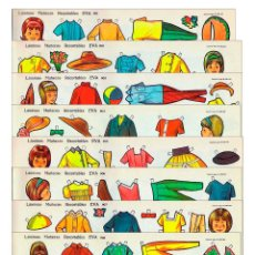 Coleccionismo Recortables: RECORTABLES EVA 901 A 910. SERIE MUÑECAS COMPLETA. 10 LÁMINAS 1962. OFRT. Lote 143653952