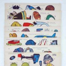 Coleccionismo Recortables: RECORTABLES TORAY G 14. MUÑECAS, PROFESIONES Y TRAJES 105 A 112. COMPLETA (MARÍA PASCUAL) 1962. OFRT. Lote 172290792