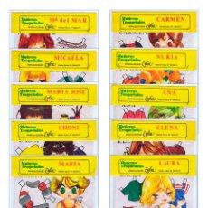 Coleccionismo Recortables: MUÑECAS TROQUELADAS COMPLETA 10 MODELOS. EN BOLSA EDICIONES ZULIA, 1981. Lote 191350198
