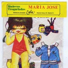 Coleccionismo Recortables: BOLSA MUÑECAS TROQUELADAS MARÍA JOSÉ. EDICIONES ZULIA, 1981. Lote 114897531