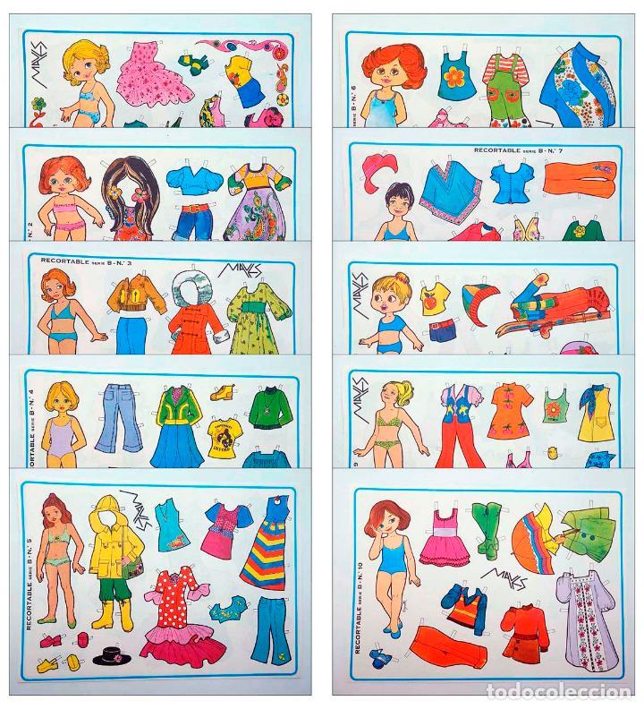 MUÑECAS RECORTABLES SERIE B 1 A 10. COMPLETA (MARGARITA) MAVES, 1974. OFRT (Coleccionismo - Recortables - Muñecas)