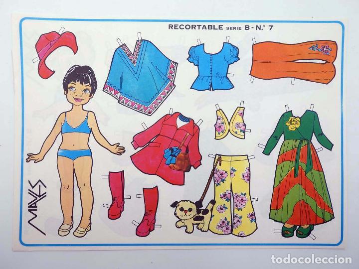 Coleccionismo Recortables: MUÑECAS RECORTABLES SERIE B 1 A 10. COMPLETA (Margarita) Maves, 1974. OFRT - Foto 8 - 264354429