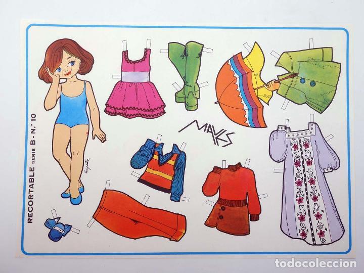 Coleccionismo Recortables: MUÑECAS RECORTABLES SERIE B 1 A 10. COMPLETA (Margarita) Maves, 1974. OFRT - Foto 11 - 264354429