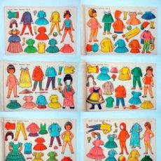 Coleccionismo Recortables: LÁMINAS MUÑECAS RECORTABLES EVA 951 A 960. COMPLETA. EDITORIAL VASCO AMERICANA (E.V.A.), 1962. OFRT. Lote 153702666