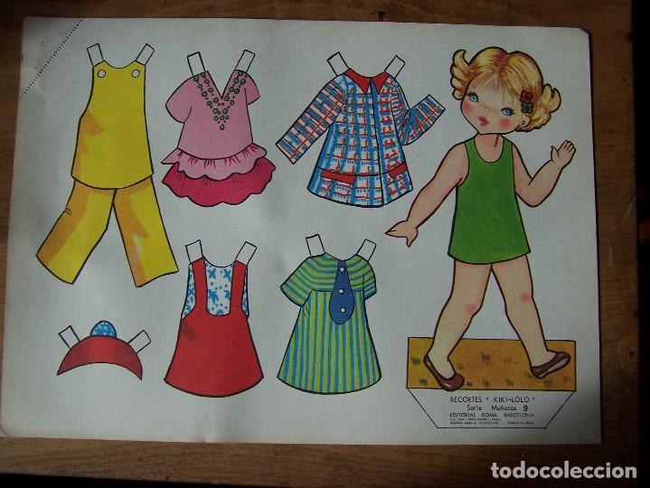 Coleccionismo Recortables: Lote de 7 Laminas recortables de muñecas, seriadas de la 7, 8, 9, 11, 13 12 y 15 y fechadas 1970. D. - Foto 2 - 115511599