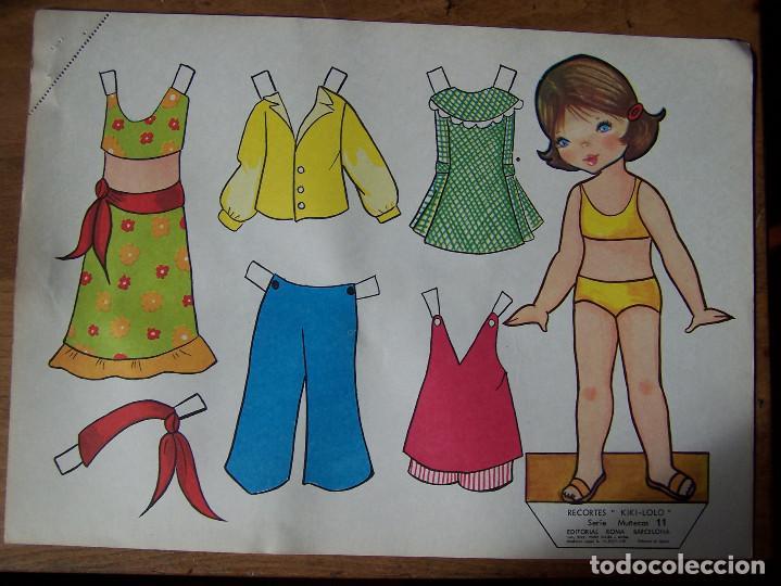 Coleccionismo Recortables: Lote de 7 Laminas recortables de muñecas, seriadas de la 7, 8, 9, 11, 13 12 y 15 y fechadas 1970. D. - Foto 3 - 115511599