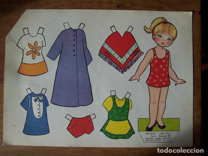 Coleccionismo Recortables: Lote de 7 Laminas recortables de muñecas, seriadas de la 7, 8, 9, 11, 13 12 y 15 y fechadas 1970. D. - Foto 6 - 115511599