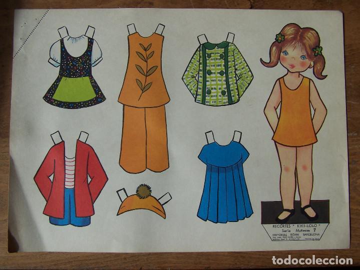 Coleccionismo Recortables: Lote de 7 Laminas recortables de muñecas, seriadas de la 7, 8, 9, 11, 13 12 y 15 y fechadas 1970. D. - Foto 7 - 115511599