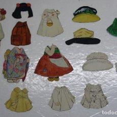 Coleccionismo Recortables: ANTIGUA MUÑECA RECORTABLE ( AÑOS 20) HECHA A MANO DIBUJO CON NUMEROSOS VESTIDOS Y SOMBREROS. Lote 115599435