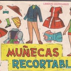 Coleccionismo Recortables: ÁLBUM CON 30 LÁMINAS DE MUÑECAS RECORTABLES EVA - AÑO 1964. Lote 117274671