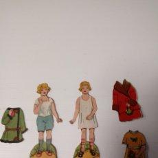 Coleccionismo Recortables: LOTE MUÑECAS RECORTABLES ANTIGUAS. Lote 118199396