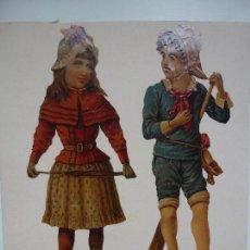 Coleccionismo Recortables: LÁMINA CON TRES RECORTABLES ANTIGUOS. YA RECORTADOS Y PEGADOS.. Lote 120840555