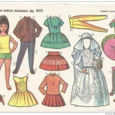 Coleccionismo Recortables: == PAA103 - LAMINA MUÑECAS RECORTABLES EVA 810 - 17,5 X 12,5 CM.. Lote 122206099