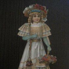 Coleccionismo Recortables: MUÑECA TROQUELADA - FINALES SIGLO XIX - PUBLICIDAD CHOCOLATE JUNCOSA -VER FOTOS- (V-14.625). Lote 122581143