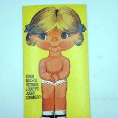 Coleccionismo Recortables: SUPER RECORTABLES MIS MUÑECAS 1ª SERIE 9. SONIA (MANUEL BREA) BRUGUERA, 1973. Lote 122685086