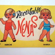Coleccionismo Recortables: NENAS. MUÑECAS RECORTABLES 1. MERCHE, MARISA. EDITORIAL VASCO AMERICANA, 1977. Lote 122685142