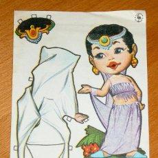Coleccionismo Recortables: RECORTABLE OBSEQUIO DE CHICLE MUÑEQUITA - FIESTA, S.A. . Lote 124150307