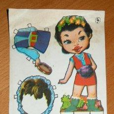 Coleccionismo Recortables: RECORTABLE OBSEQUIO DE CHICLE MUÑEQUITA - FIESTA, S.A.. Lote 124150355