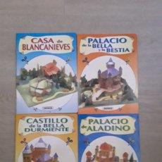 Coleccionismo Recortables: LOTE 4 MAQUETAS RECORTABLES SUSAETA AÑOS 90 BLANCANIEVES, ALADIN, BELLA Y BESTIA. Lote 126539446