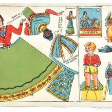 Coleccionismo Recortables: LAMINA RECORTABLES MUÑECAS TRAJE TIPICO REGIONAL DE SALAMANCA. CASTILLA Y LEÓN. Lote 127658619