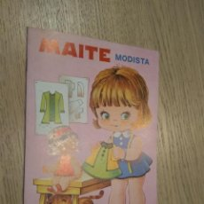 Coleccionismo Recortables: MAITE MODISTA CUENTOS CON VESTIDITOS RECORTABLES COLECCION PEN 1978. Lote 128957299