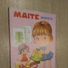 Coleccionismo Recortables: MAITE MODISTA CUENTOS CON VESTIDITOS RECORTABLES COLECCION PEN 1978. Lote 128957779