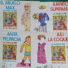 Coleccionismo Recortables: 4 RECORTABLES DE MUÑECAS LA FAMILIA TRIP. Lote 129105931
