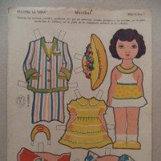Coleccionismo Recortables: LA TIJERA SERIE 15 MARIBEL Nº 7. Lote 130231678