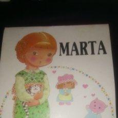 Coleccionismo Recortables: RECORTABLES MIS QUERIDAS MUÑECAS. MARTA NÚM. 1.. Lote 130300034