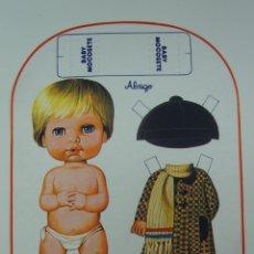 Coleccionismo Recortables: RECORTABLE BABY MOCOSETE - ABRIGO .. Lote 131814322