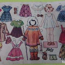 Coleccionismo Recortables: ANTIGUA LÁMINA RECORTABLE DE MUÑECA KATY - REVISTA FLORITA - EDICIONES CLIPER . Lote 131857202
