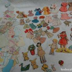 Coleccionismo Recortables: LOTE DE RECORTABLES DE MUÑECA ANTIGUOS . Lote 131861582