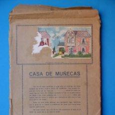 Coleccionismo Recortables: CASA DE MUÑECAS RECORTABLES OBSEQUIO DE CHOCOLATES UÑA DE VALLADOLID - AÑOS 1940-50. Lote 132003906