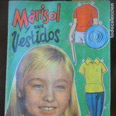 Coleccionismo Recortables: MARISOL Y SUS VESTIDOS- ALBUM UN RAYO DE LUZ DE VESTIDOS RECORTABLES PARA MARISOL - FHER -. Lote 132006462