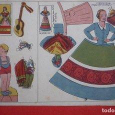 Coleccionismo Recortables: MUÑECAS RECORTABLES REGIONALES Nº 3. ARAGÓN. TAMAÑO16,5X23 CM.. Lote 132034638