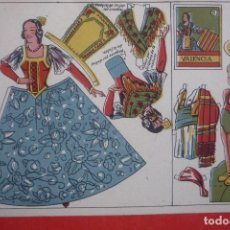 Coleccionismo Recortables: MUÑECAS RECORTABLES REGIONALES Nº 5. VALENCIA. TAMAÑO16,5X23 CM.. Lote 222364781