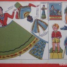 Coleccionismo Recortables: MUÑECAS RECORTABLES REGIONALES Nº 7. SALAMANCA. TAMAÑO16,5X23 CM.. Lote 132034958