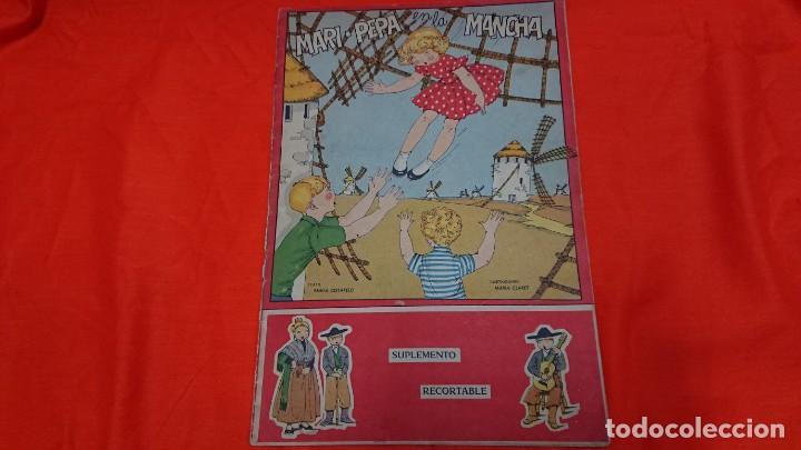 ANTIGUO CUENTO MARI PEPA EN LA MANCHA CON SUPLEMENTO RECORTABLE (Coleccionismo - Recortables - Muñecas)