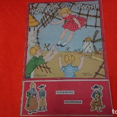 Coleccionismo Recortables: ANTIGUO CUENTO MARI PEPA EN LA MANCHA CON SUPLEMENTO RECORTABLE . Lote 132749258