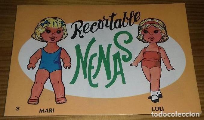 LIBRO RECORTABLE NENAS. MARI - LOLI. N° 3. AÑO 1977. EDITORIAL EVA. MEDIDA 12,5 × 18 CM (Coleccionismo - Recortables - Muñecas)