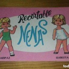 Coleccionismo Recortables: LIBRO RECORTABLE NENAS. MARIPAZ - ISABELITA. N° 10. AÑO 1977. EDITORIAL EVA. MEDIDA 12,5 × 18 CM. Lote 133163474